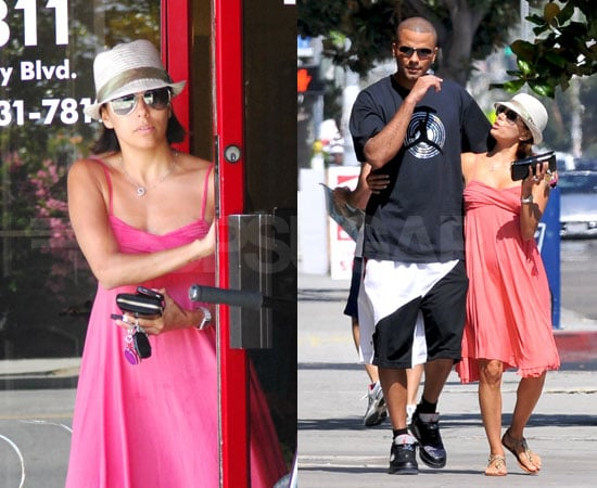 Photos of Eva Longoria and Tony Parker Leaving the Barbershop in LA