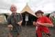 These 70-year-old lovebirds cut a (muddy) rug as they attended the Glastonbury festival for the first time.