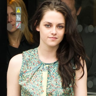 Kristen Stewart in Paris at the Balenciaga Show