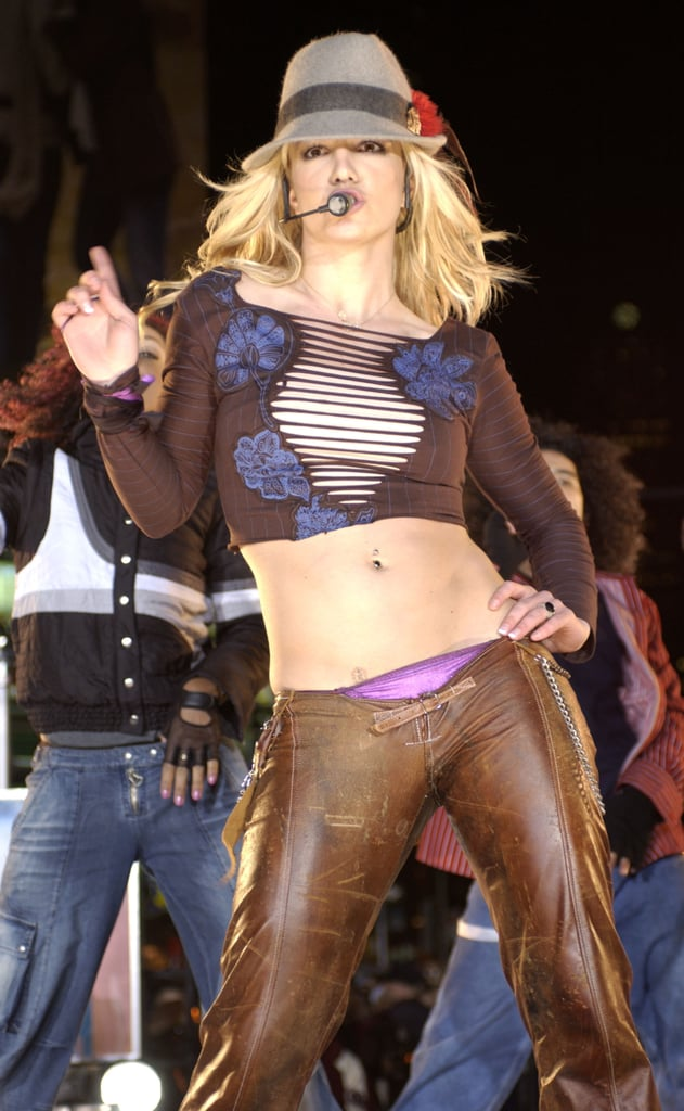 Britney Spears showed off for an MTV special in 2003.