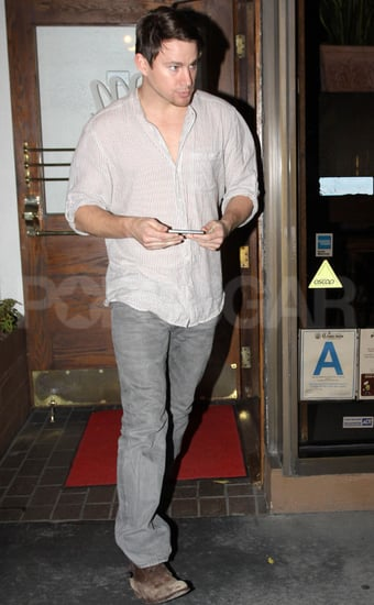 Pictures of Channing Tatum Eating Dinner at Madeo