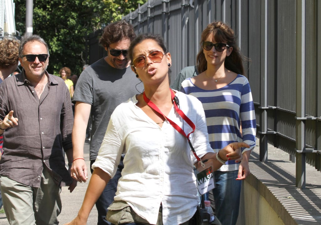 Penelope Cruz and Javier Bardem in Rome.