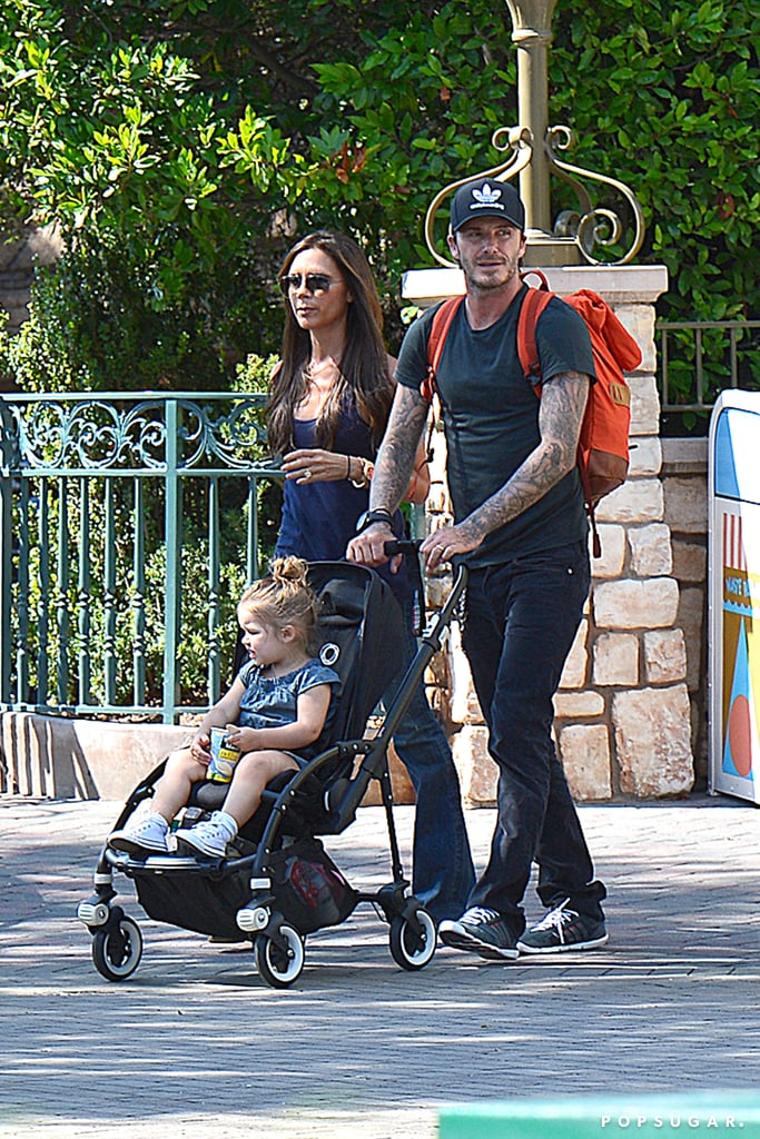 The Beckhams Visit the Happiest Place on Earth