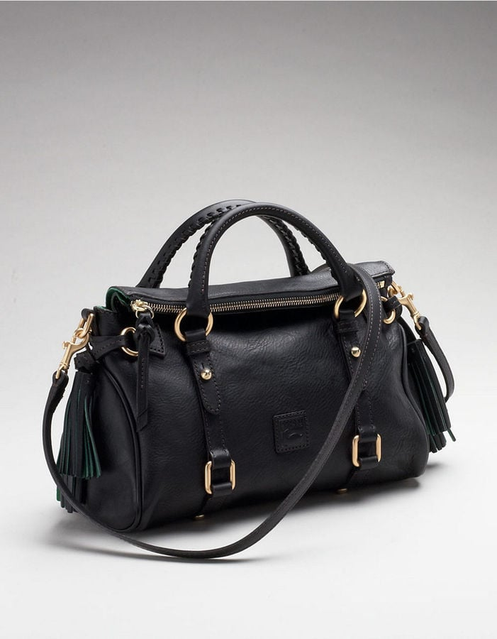 Dooney & Bourke Florentine black leather satchel ($318)