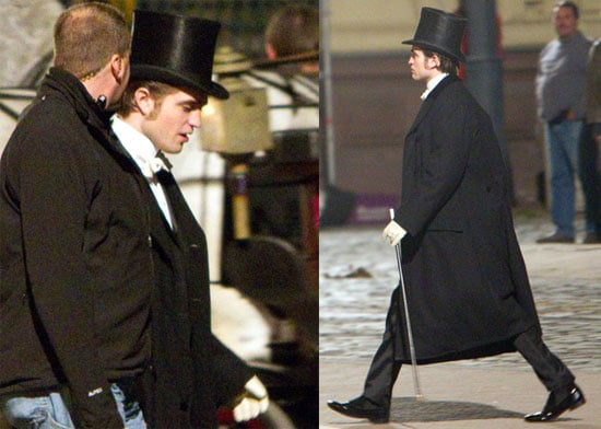Photos of Robert Pattinson on Bel Ami Set on April Fools Day