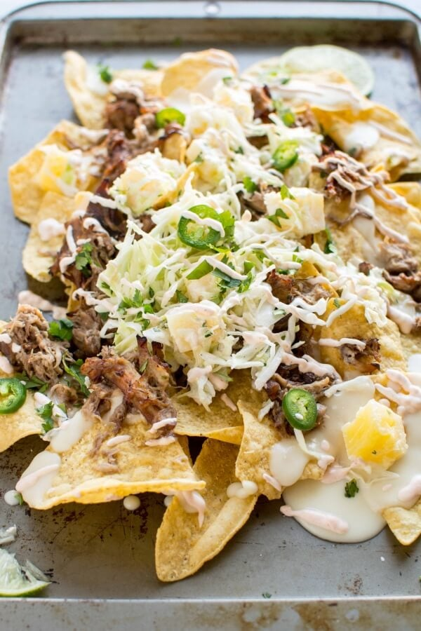 Crockpot Asian Chicken Nachos