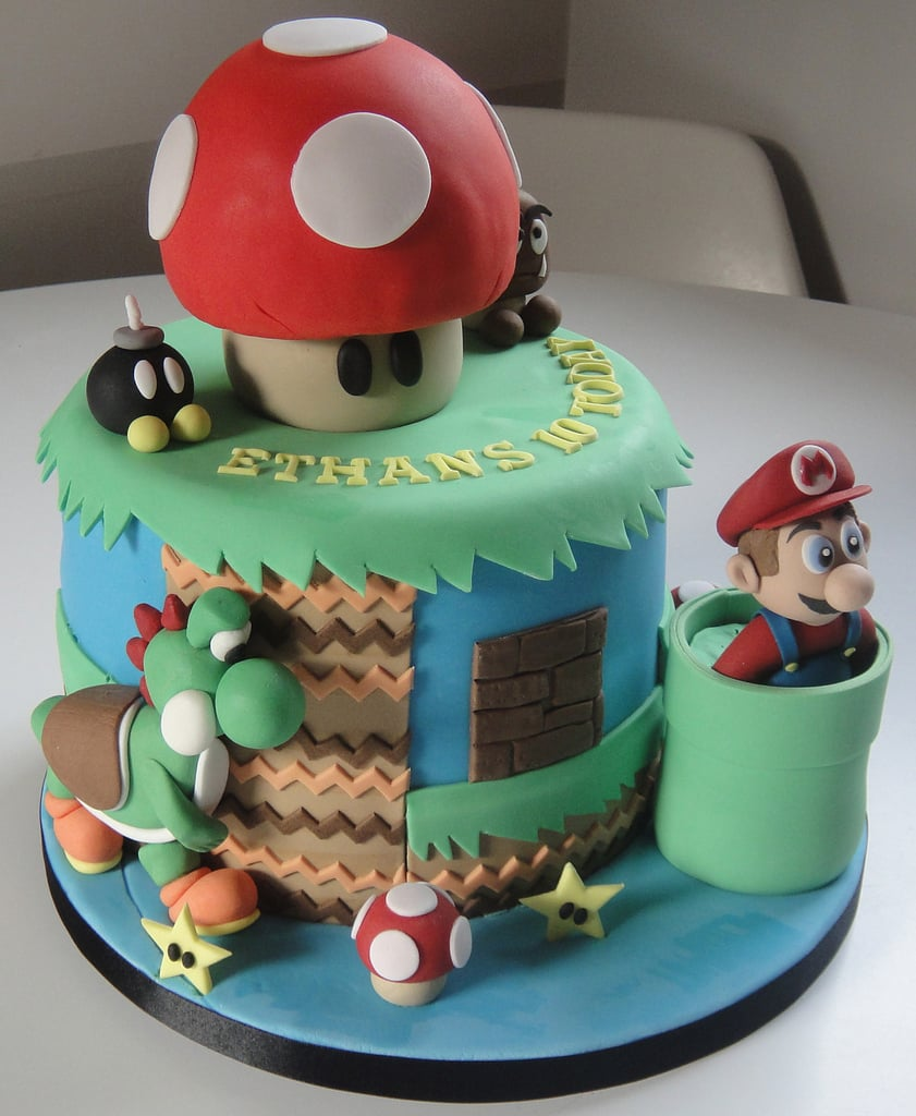 This Super Mario Cake is the Bomb-omb.  Source: Flickr User Fays cakes