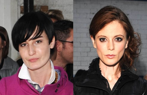 Photo of Erin O'Connor and Emilia Fox on Front Row at Erdem Show London Fashion Week. Whose Beauty Style Do You Prefer?