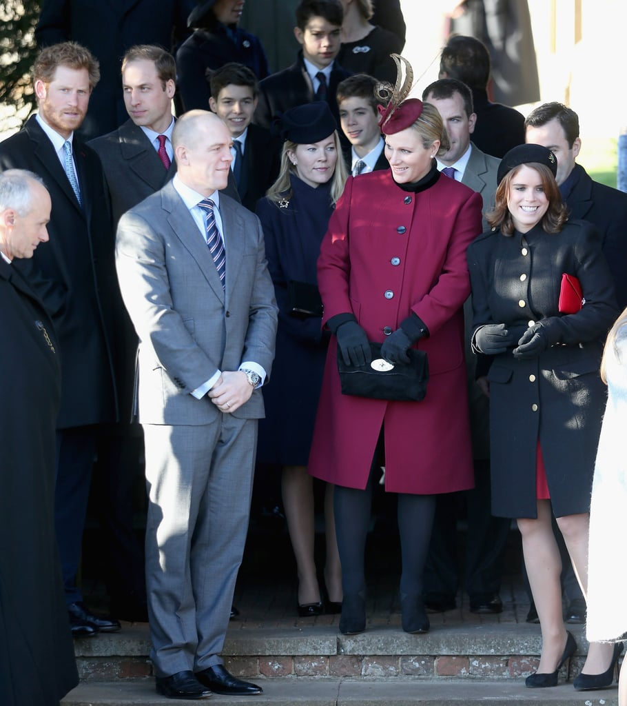 Zara and Mike joined their family, including Prince William and Prince Harry, for Christmas Day services in 2013.