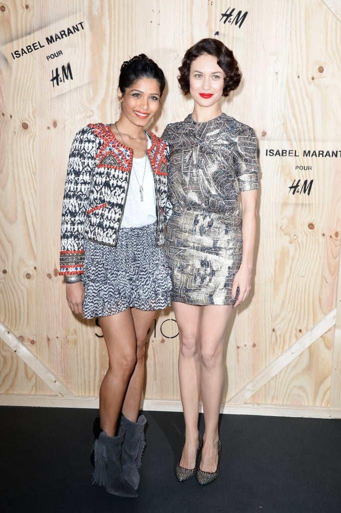 Freida Pinto and Olga Kurylenko both looked impeccable in their Isabel Marant for H&M looks at the collection's photocall in Paris.