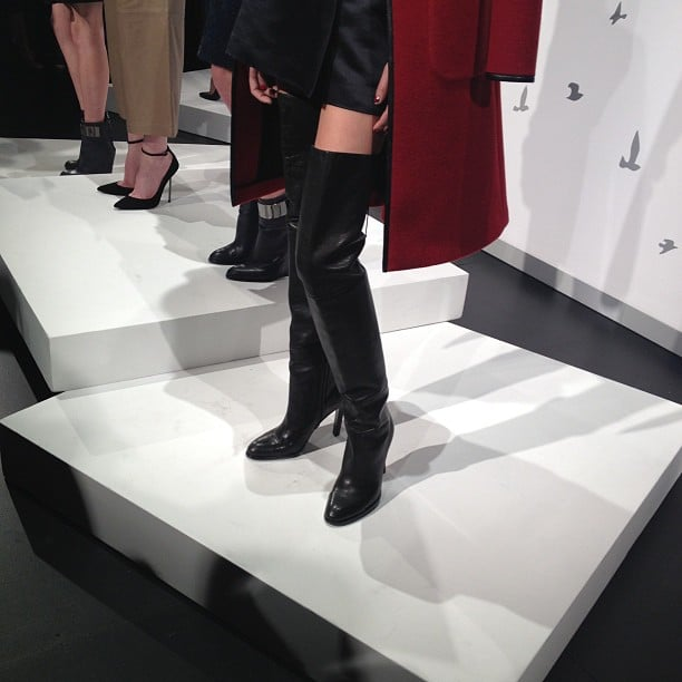 Sexy thigh-high boots.