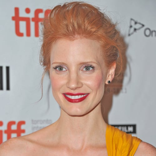 Jessica Chastain's Teased Updo