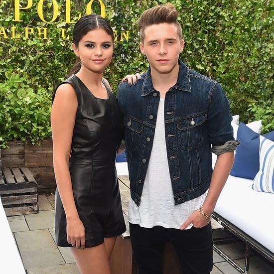 Selena Gomez and Brooklyn Beckham at NYFW 2015