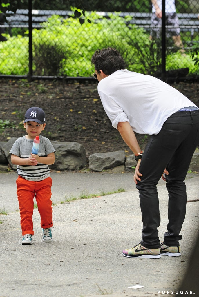 Orlando Bloom Grabs a Sweet Treat With Flynn