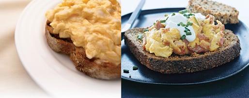 Scrambled Eggs Two Ways — Beginner & Expert