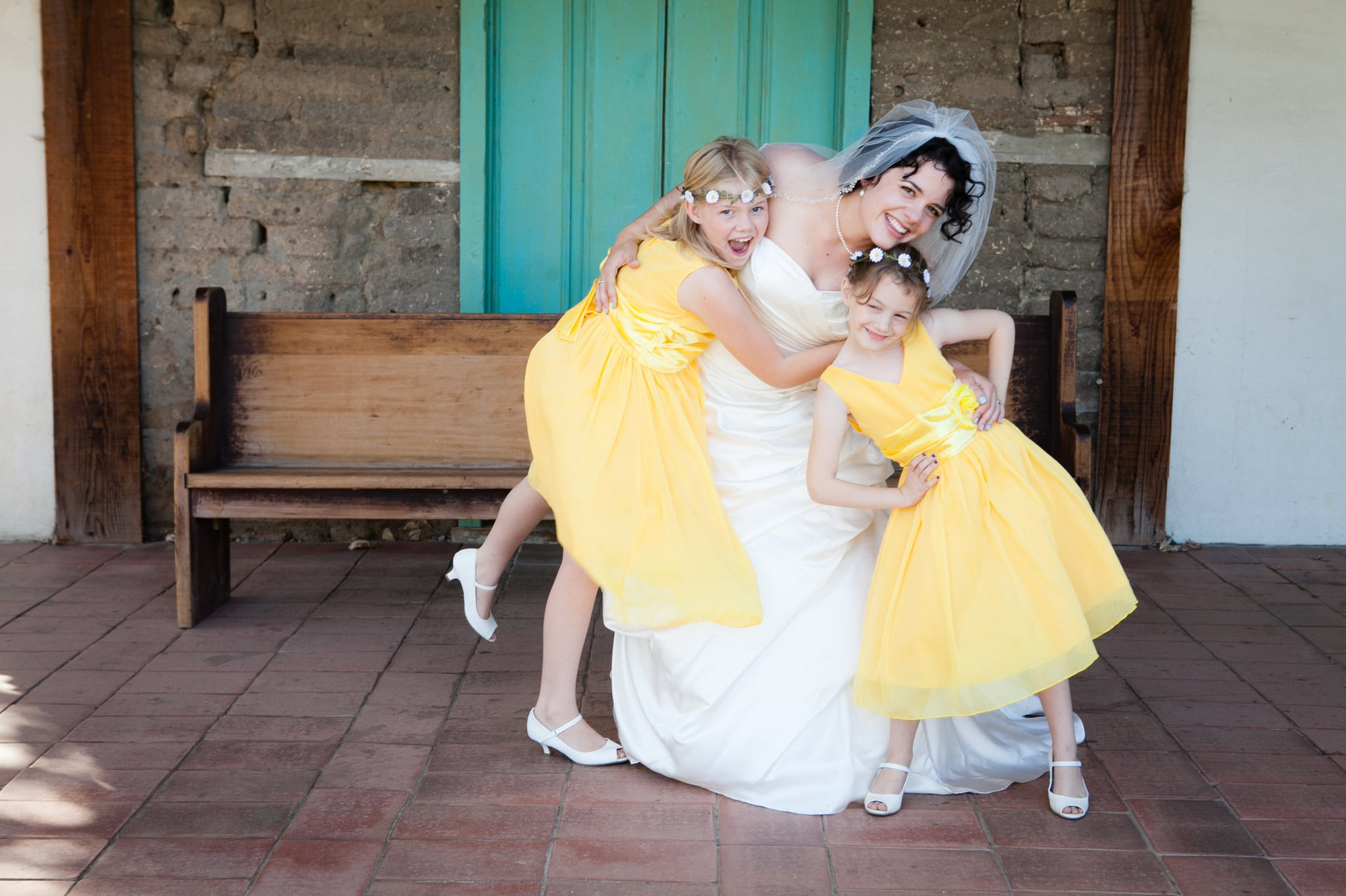 """""""Our nieces were the flower girl and train carrier. My younger sister and I played the same roles in their parents' wedding when we were kids, so it was extra sentimental for me."""" Photo by G Aranow Photography"""
