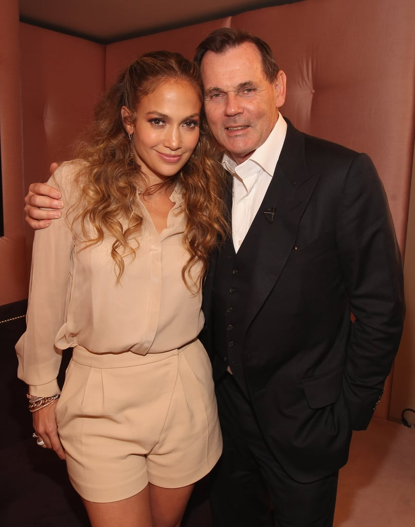 Jennifer Lopez snapped a photo with Coty's Bernd Beetz.