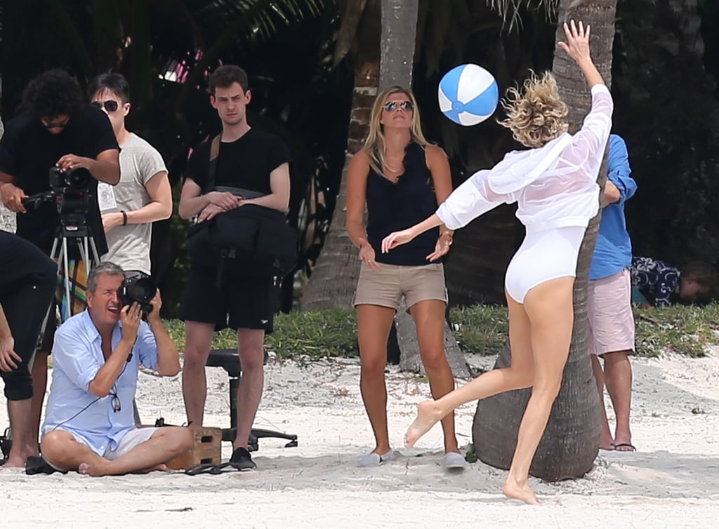 Charlize Theron Is Having a Ball on Her Beach Photo Shoot