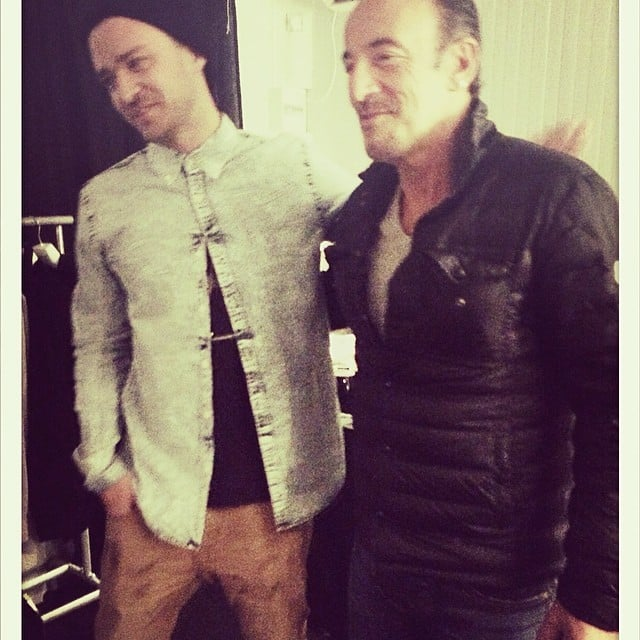 "Justin Timberlake freaked out about meeting his ""idol"" Bruce Springsteen. Source: Instagram user justintimberlake"