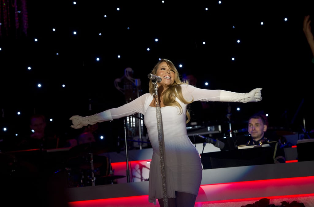 Mariah Carey belted it out during the national Christmas tree lighting ceremony at the White House.