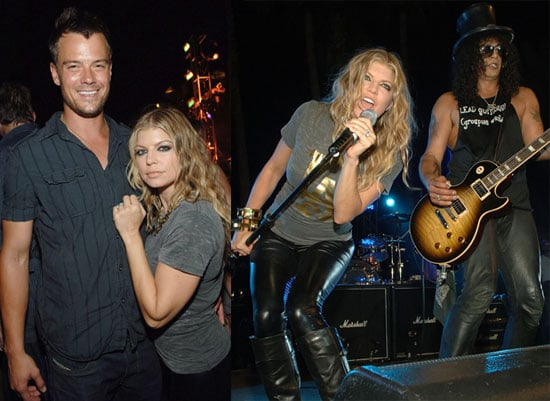 Photos of Fergie and Josh Duhamel Celebrating Her Father Pat and Slash's Birthday in Las Vegas