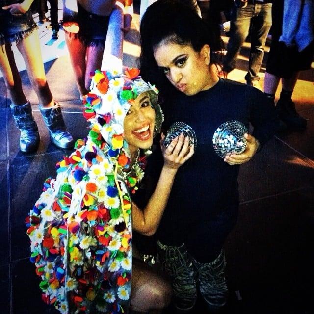 Miley Cyrus had crazy fun on tour. Source: Instagram user mileycyrus