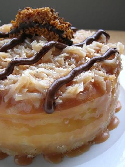 Savory Sights: Samoas Cheesecake