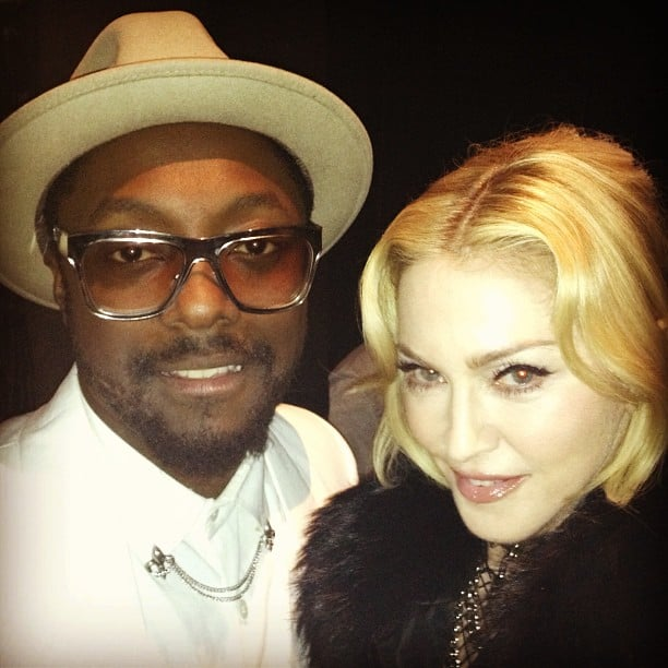 Madonna posed with Will.i.am at the Billboard Music Awards. Source: Instagram user guyoseary