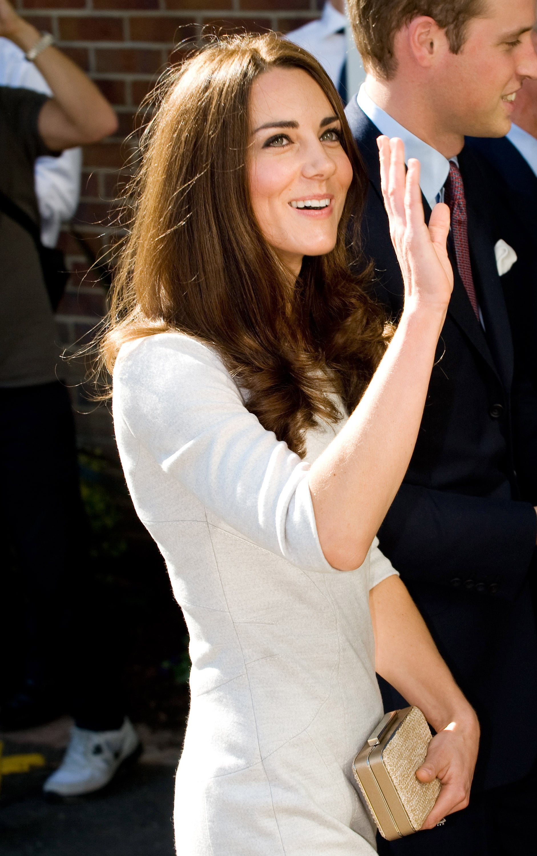 Kate Middleton smiled at her fans in London.