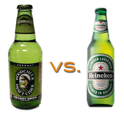 Hard Cider vs. Heineken