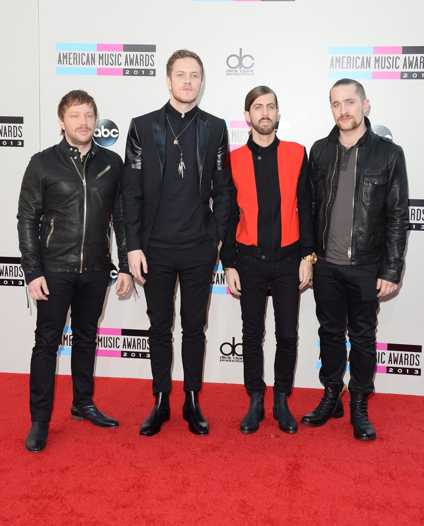 The guys of Imagine Dragons got together for a photo op.