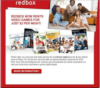Redbox Kiosks Now Charging $2 For Game Rentals