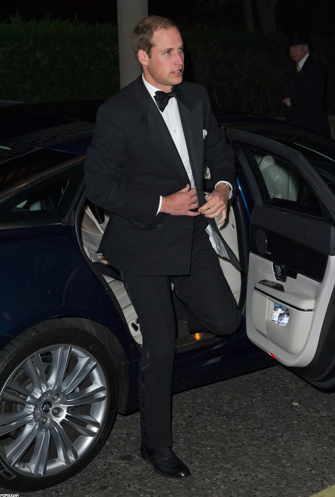 Prince William wore a tux to The October Club dinner in London.