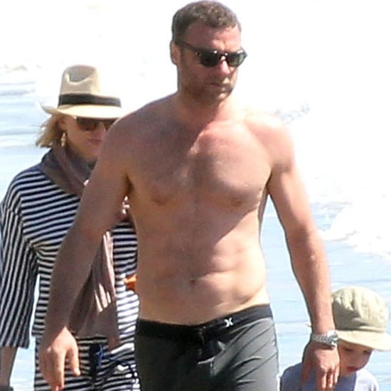 Naomi Watts, Liev Schreiber, and Sons at the Beach Pictures
