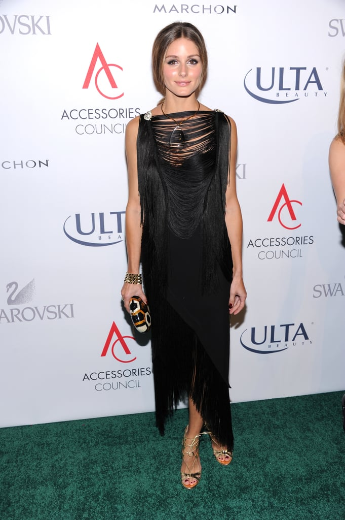 For the ACE Awards, she chose a black fringed frock and let her accessories shine.
