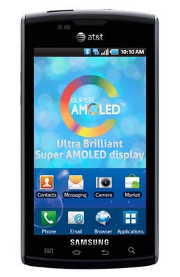 Samsung Captivate Super AMOLED Screen