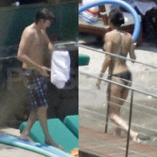 Pictures of Demi Moore in a Bikini and Ashton Kutcher Shirtless