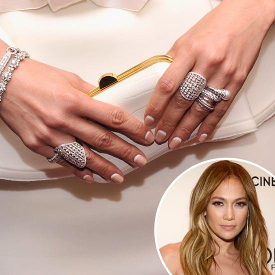 Jennifer Lopez's Nail Art   Reverse French Manicure