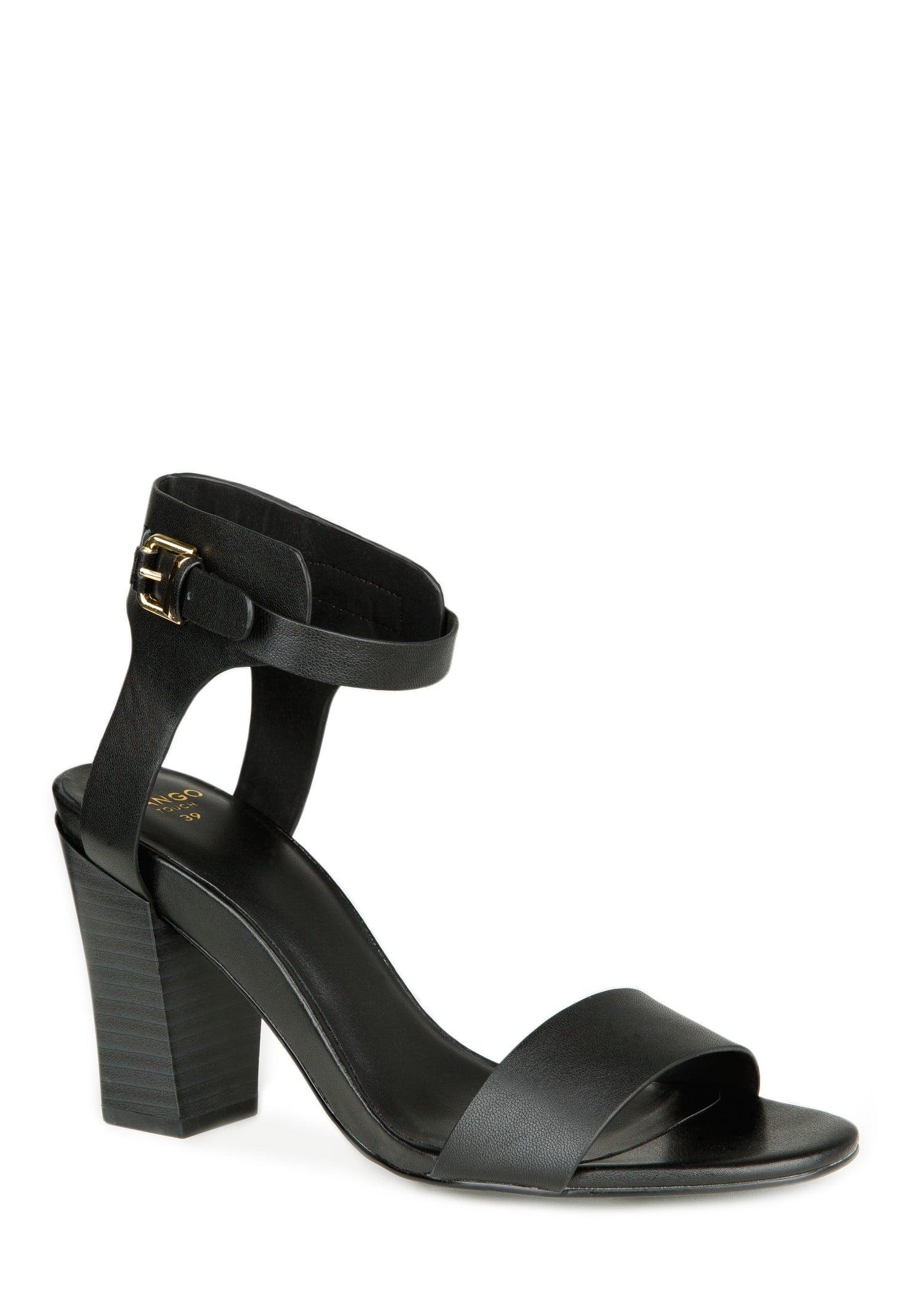 Mango Black Ankle-Strap Sandals