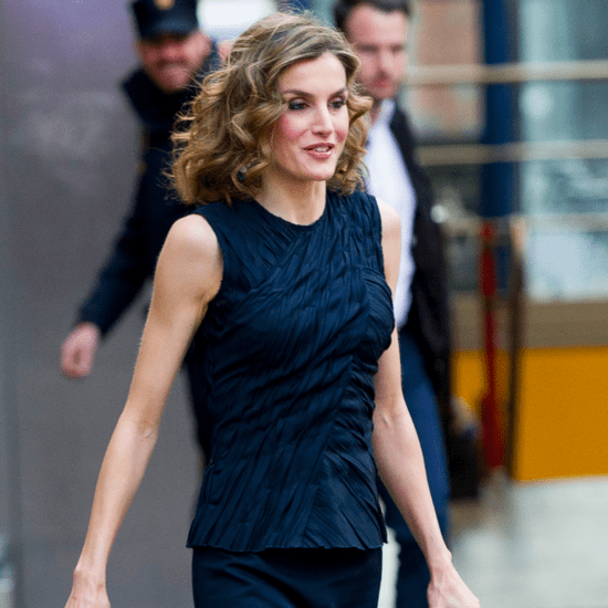 Queen Letizia Wearing a Navy Outfit May 2016