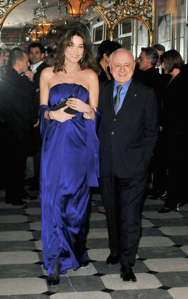 Carla Bruni-Sarkozy and Pierre Berger