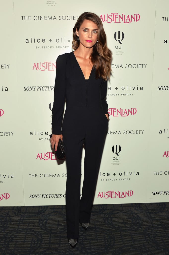 It was a banner style week for Keri Russell, who put together this chic black look for an Austenland screening after sporting a simple white blouse with jeans earlier.