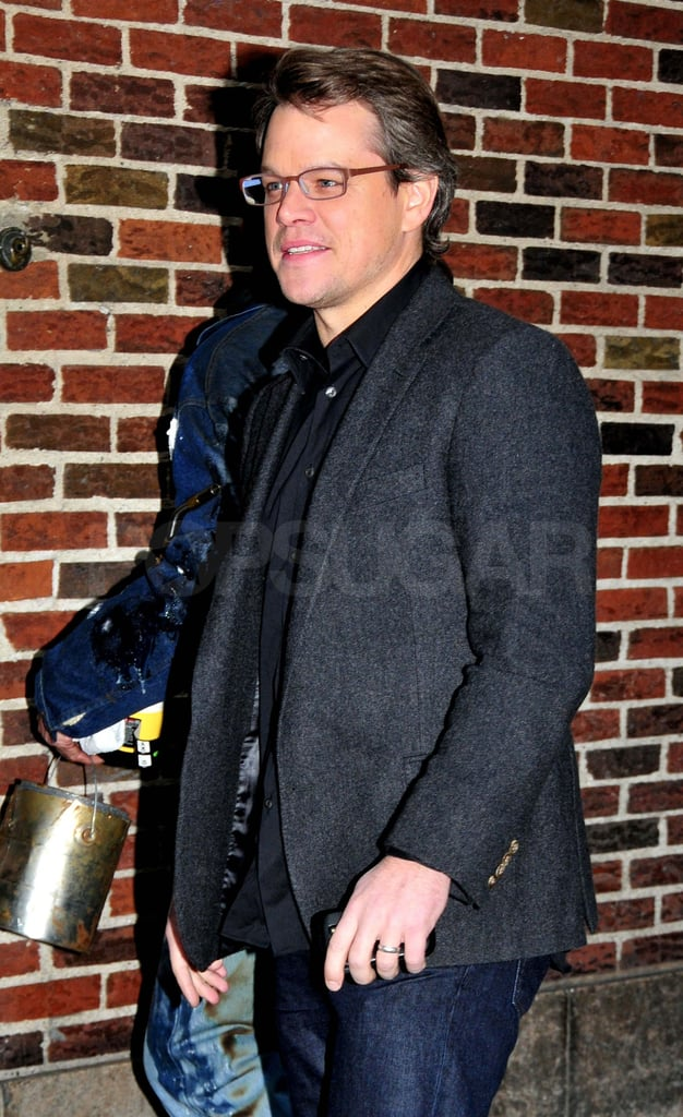 Matt Damon Is All About Baby Stella and His Girls on Letterman