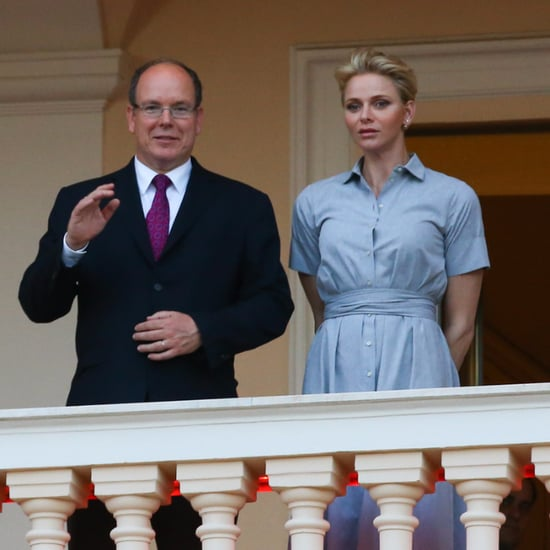 Princess Charlene's Blue Shirtdress June 2016