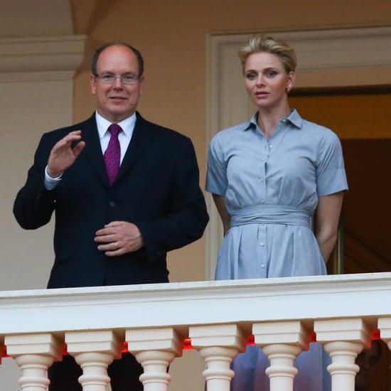Princess Charlene's Blue Shirtdress June 2016