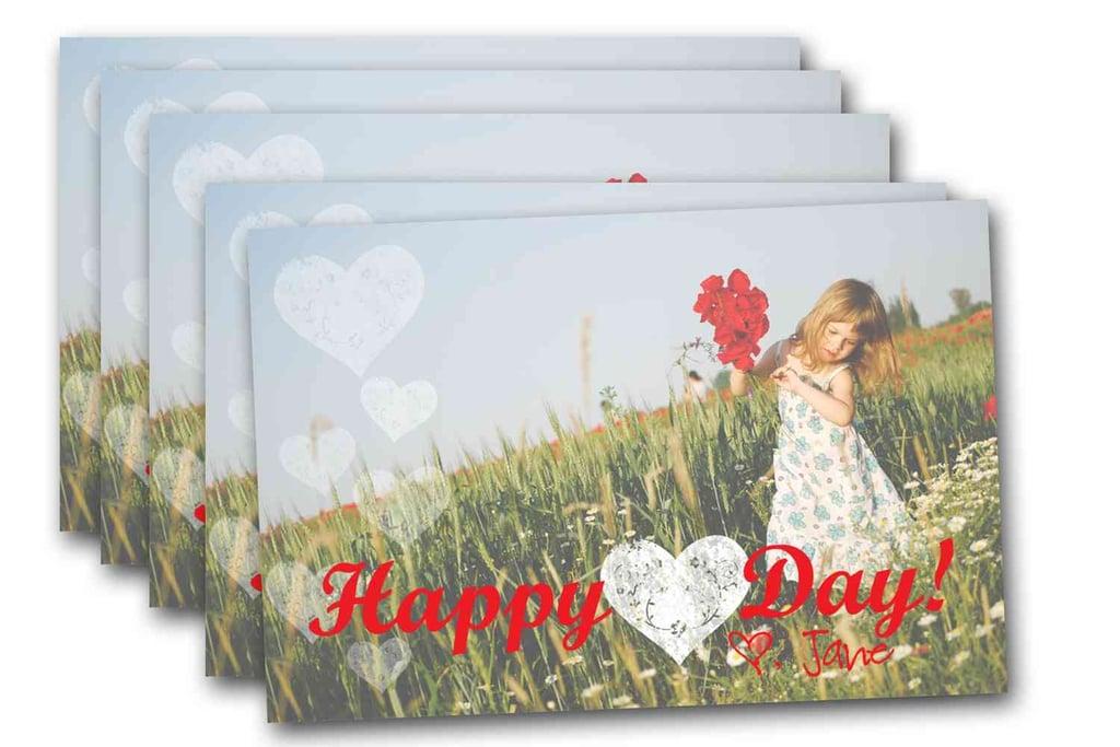 Heart Valentine Photo Card