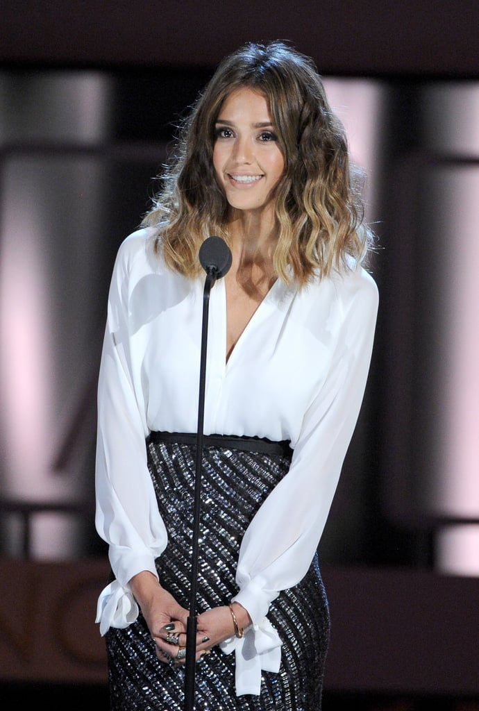 Jessica Alba presented an award at the ALMA Awards.