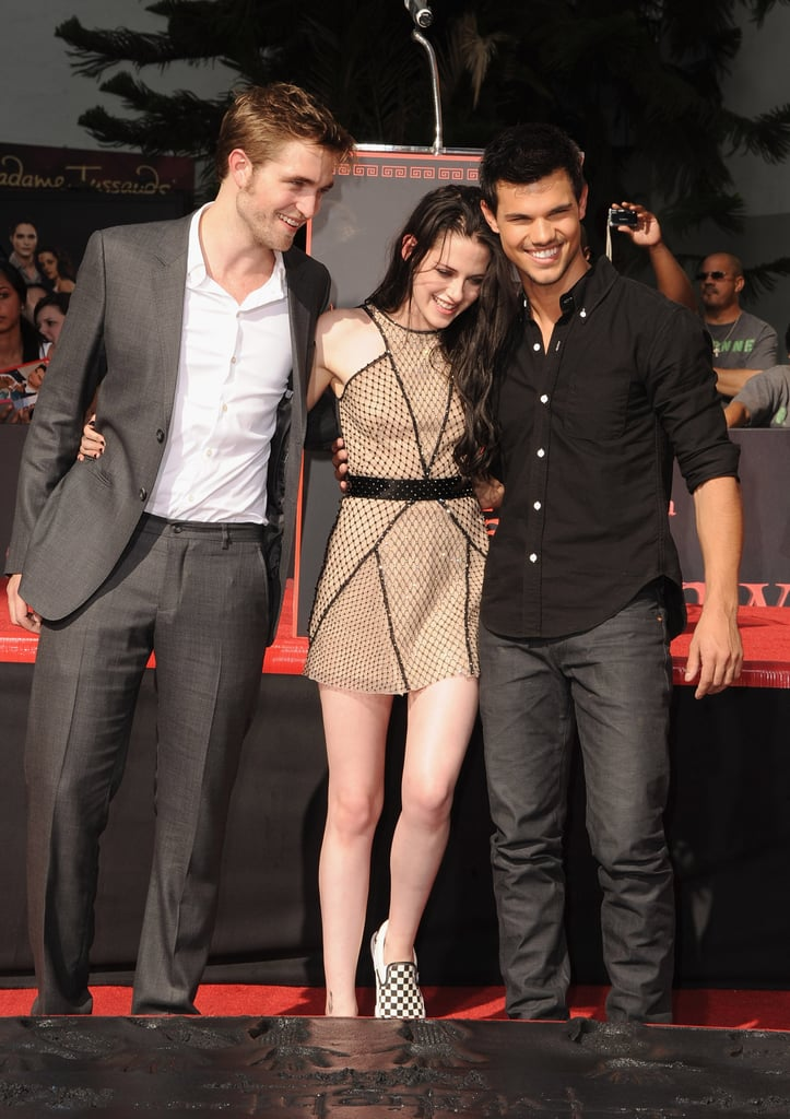 Kristen Stewart, Robert Pattinson, and Taylor Lautner were together at Grauman's Chinese Theater.