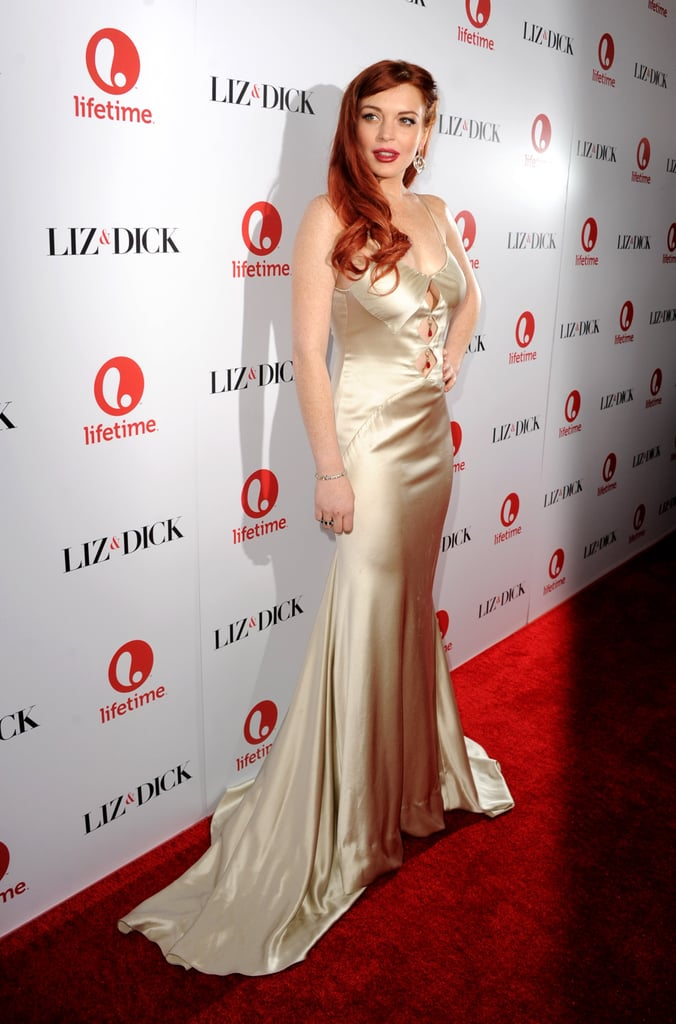 Lindsay Lohan was the epitome of old Hollywood glamour as she hit a party celebrating her upcoming made-for-TV movie, Liz & Dick, on November 20. Lindsay stars as Hollywood legend Elizabeth Taylor.