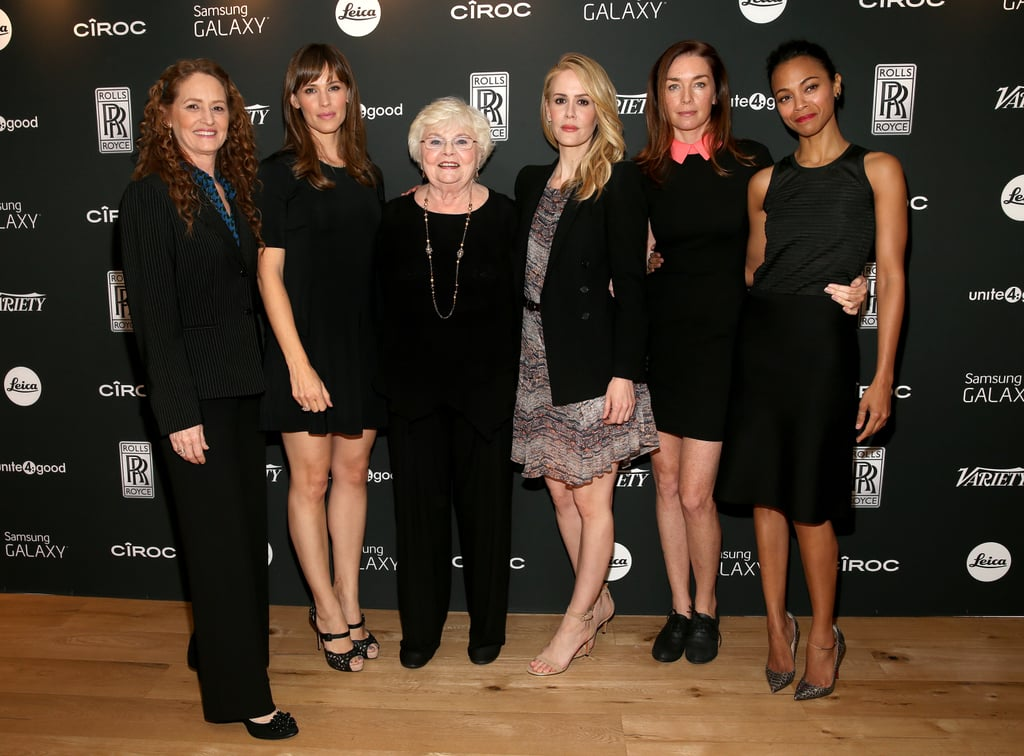 Melissa Leo, Jennifer Garner, June Squibb, Sarah Paulson, Julianne Nicholson, and Zoe Saldana attended the Variety Award Studio event on Thursday.